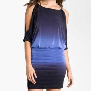 Xscape Split Sleeve Ombré Jersey Minidress